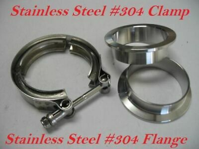 $ CDN26.35 • Buy 1.5 Inch Stainless Steel #304 V Band Vban Clamp /2 Flange Turbo Exhaust Down Pip
