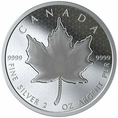 $ CDN449 • Buy 2020 Pulsating Maple Leaf $10 2 Oz. Pure Silver Proof Coin Canada Mintage: 3000