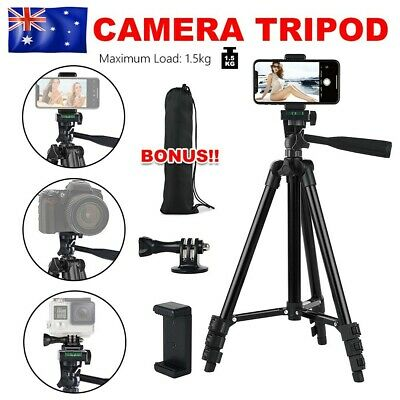 AU31.95 • Buy Professional Camera Tripod Stand Mount Phone Holder For IPhone DSLR Travel AU