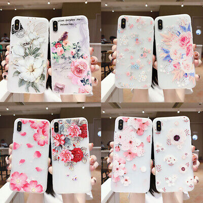 AU5.96 • Buy Hot Fashion Women Girl Frosted Fresh Flower Silicone Phone Case Cover For OPPO