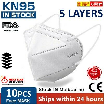 AU17.99 • Buy KN95 Particulate Respirator Face Mask Cover CE Certified Anti Dust Medical 10x