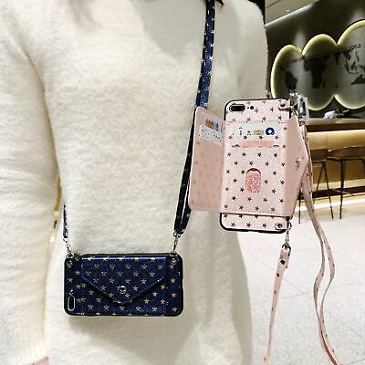 AU7.21 • Buy For OPPO Stars Leather Case Hot Women Girl Card Wallet Stand Phone Cover +Strap