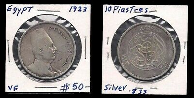 $29.99 • Buy Egypt - 10 Piasters 1923 - Silver Coin - V.f.