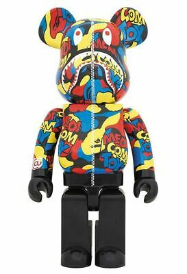 $560 • Buy Medicom Be@rbrick Bearbrick 100% & 400% Camo Shark EXHIBITION BAPE A Bathing Ape