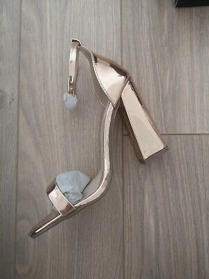Missguided Rose Gold High Heel Shoes Size 6 Brand New In Box • 8£
