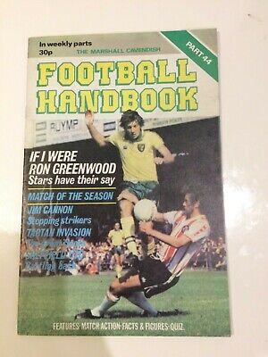 The Marshal Cavendish Football Handbook Part 44 • 3.50£