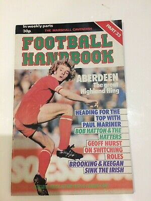 The Marshal Cavendish Football Handbook Part 33 • 3.50£