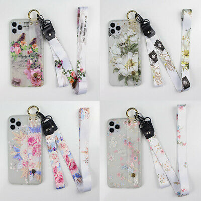 AU6.41 • Buy Frosted Flower Hot Fashion Wristband Lanyard Soft Phone Case Cover For Samsung