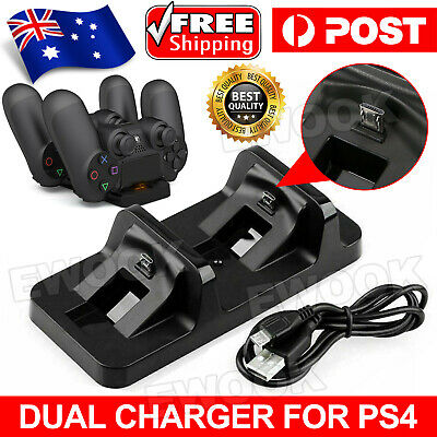 AU12.95 • Buy For PS4 Dual Charging Charger Dock Station Stand For Playstation 4 Controller AU