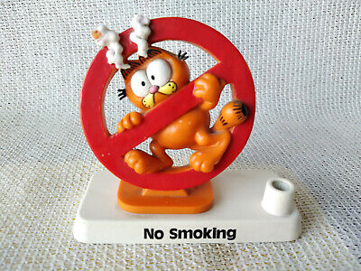 Garfield Table Stand Figure  No Smoking  By Bully • 22.84£