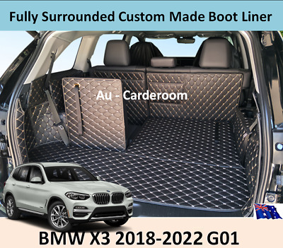 AU129 • Buy Premium Custom Made Trunk Boot Mats Liner Cargo Cover For BMW X3 2018-2020 G01