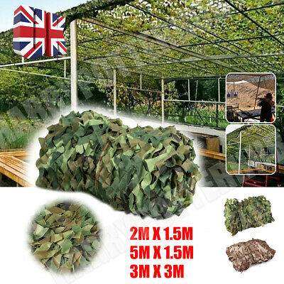 5X1.5M Army Camouflage Net Camo Netting Camping Shooting Hunting Hide Woodland • 14.49£