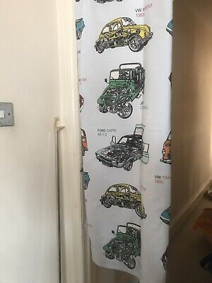 Next Haynes Pair Boys Bedroom Curtains From Next, Tab Top, Lined, 66  X 54  Drop • 8.99£