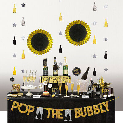 Happy New Years Eve Table Decorating Set Bar Kit Party Decor • 8.99£