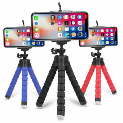 Mobile Phone Tripod Camera Holder Clip Tripods For Smartphone IPhone Samsung • 4.95£