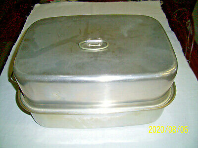 $24.95 • Buy Vintage Aluminum USA  Roaster Pan 3 Pieces  Comet 12 X17  With Tray