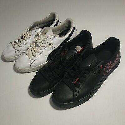 $ CDN60.07 • Buy Puma Clyde White Black Red Lot 2 Shoes Mens Size 10.5 Sneakers