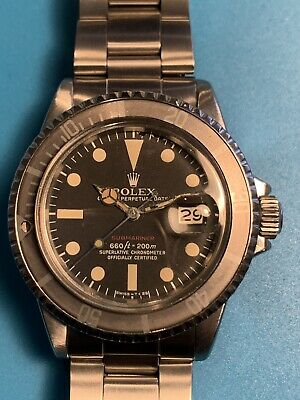 $ CDN25518.02 • Buy Rolex RED Submariner Ref. 1680 Unique Faded Gray Insert .Real Vintage (292)