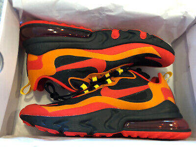 $94.99 • Buy Nike Air Max 270 React - Black/Chile Red/Yellow - US Mens Size 12