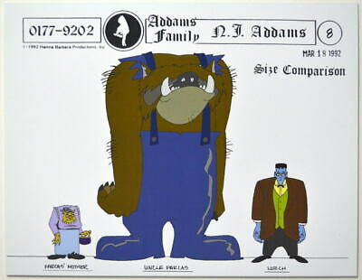 $ CDN17.61 • Buy Addams Family Dead & Breakfast MODEL SHEET - SIZE COMPARISON LURCH UNCLE FARCAS