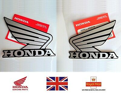 £8.95 • Buy Honda GENUINE Stickers Decal Tank Decal Wing Sticker 100mm SILVER + BLACK