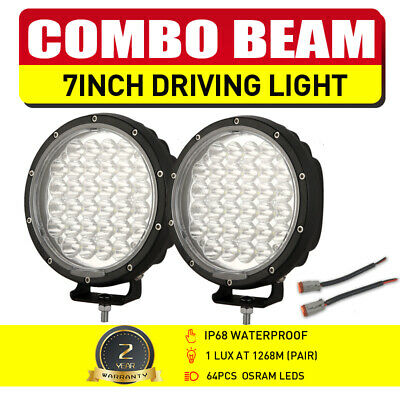 AU89.95 • Buy NEW 7inch 2  Slim LED Driving Lights OSRAM Spot Flood Combo UTE ATV SUV 4WD Work