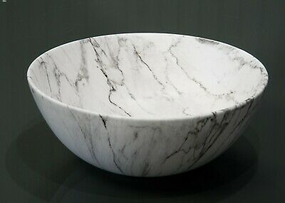 Marble Round Sink Basin Ceramic Marble Effect Modern Stylish Quality Designer  • 53.99£