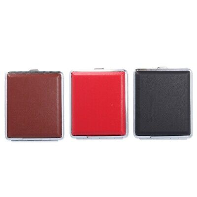 FAUX LEATHER CIGARETTE CASE King Size Straight Roll Up Tobacco Cigar Holder UK • 3.25£