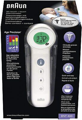 $ CDN85.76 • Buy Braun No Touch + Touch BNT400WE Thermometer With Age Precision