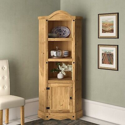 Corona Corner Display Unit - Mexican Solid Pine, Rustic, Distressed • 89.99£