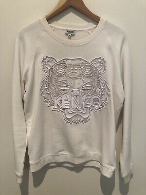 AU200 • Buy KENZO - White Tiger Logo Embroided Sweatshirt (M)