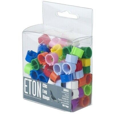 £2.99 • Buy ETON Clic Leg Rings For Birds Assorted Colours And Quantities