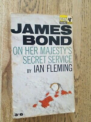 Ian Fleming James Bond 'On Her Majesty's Secret Service' 1965 Pan - 5th Edition • 8£
