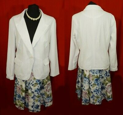 Clare Tiffany & Monsoon Floral Skirt And Jacket Wedding Occasion Outfit Uk 18/20 • 18.99£