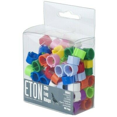 50 8mm Eton Clic Leg Rings For Poultry Chicken Duck Quail Pigeon • 5.49£