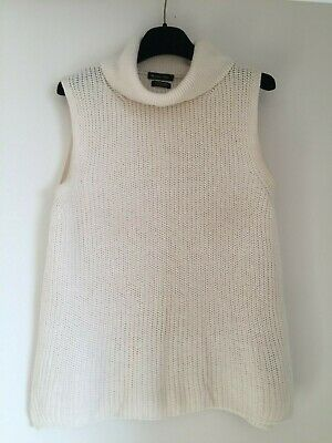 AU49 • Buy Massimo Dutti High Neck Sleeveless  Top 65% Linen/35%cotton,size S,madein Italy