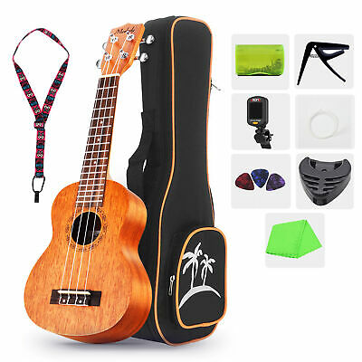 AU57.88 • Buy 21 Inch Ukulele Soprano Concert Ukelele Mahogany With Gig Bag Tuner For Beginner