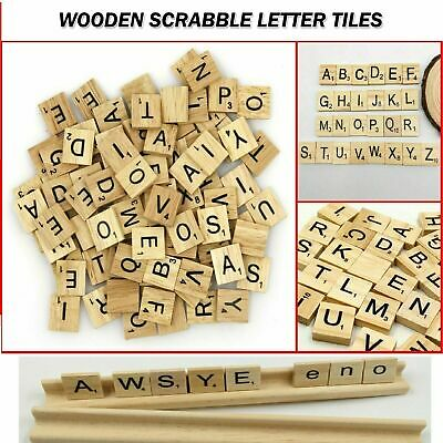 £3.99 • Buy 200 Pieces Wooden English Letters Blocks Scrabble Tiles Crafts Alphabet Uk Sell