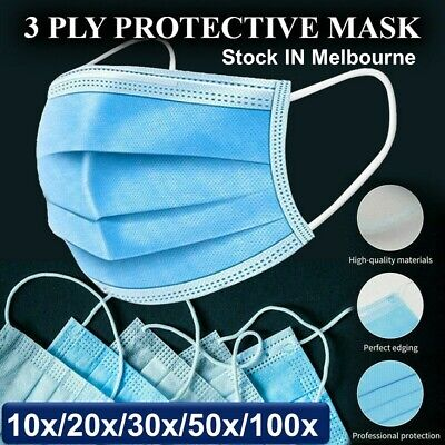 AU23.76 • Buy Face Mask Surgical Grade FaceMask Disposable Masks 3 Layers UPTO 100pcs