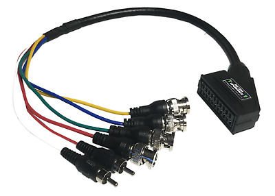 £20.99 • Buy Female SCART To BNC Adapter Cable For Sony PVM BVM CRT Extron