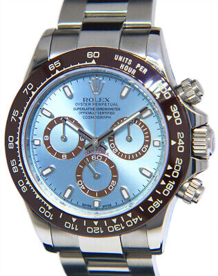 $ CDN29362.21 • Buy Rolex Daytona Chronograph Steel Blue Dial Brown Ceramic Bezel Mens Watch 116520