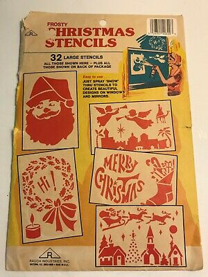 $ CDN12.04 • Buy Vintage Frosty Christmas Stencils Sets Rauch Industries USA