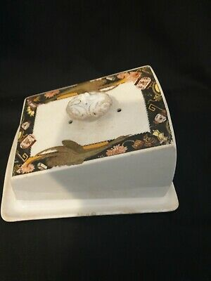 £14.99 • Buy Art Deco Burleigh Ware Butter / Cheese Dish Burgess & Leigh