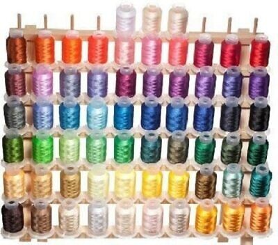 $46.99 • Buy 63 Brother Disney Colors Embroidery Machine Thread Set 40 Weight