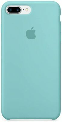 Genuine Apple Silicone Back Cover Case For IPhone 7 Plus - Sea Blue • 24.99£