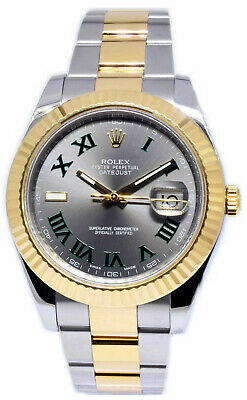$ CDN16600.82 • Buy Rolex Datejust II 18k Gold/Steel Slate Roman Dial 41mm Watch Box/Papers 116333