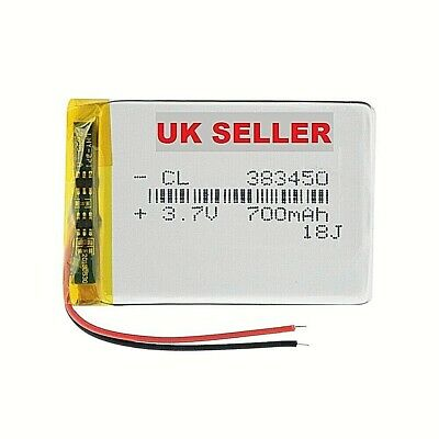 1/2 Pieces 3.7V 700mAh 383450 Lithium Polymer Battery 3.7 Volt Lipo Battery  • 17.99£