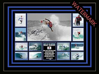 AU94.99 • Buy Kelly Slater Limited Edition Signed & Framed Memorabilia - Asp World Champion