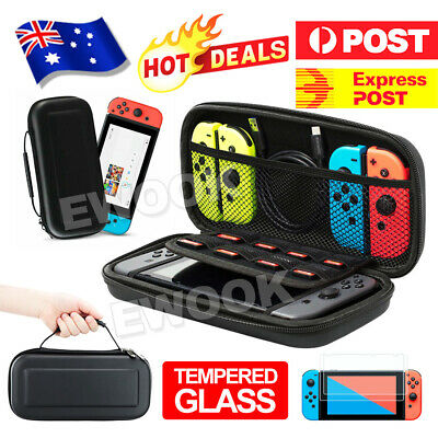 AU14.95 • Buy For Nintendo Switch Shell Carrying Case Storage Bag Cover+ Tempered Screen Glass