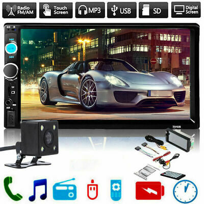 $ CDN60.48 • Buy 7inch HD 2Din Touch Screen Car Stereo MP5 Player Radio Android IOS USB/TF+Camera